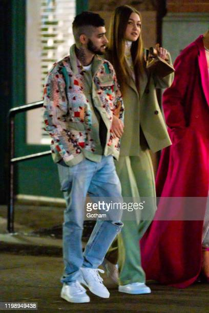 Zayn Malik and Gigi Hadid are seen in NoHo on January 11 2020 in New York City