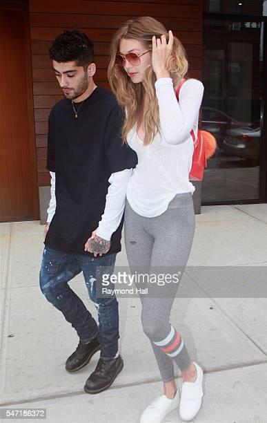 Zayn Malik and Gigi Hadid are seen in Soho on July 13 2016 in New York City