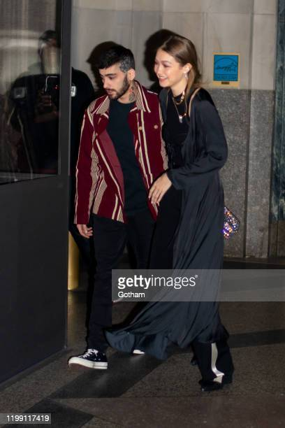 Zayn Malik and Gigi Hadid are seen outside Eleven Madison Park on January 12 2020 in New York City