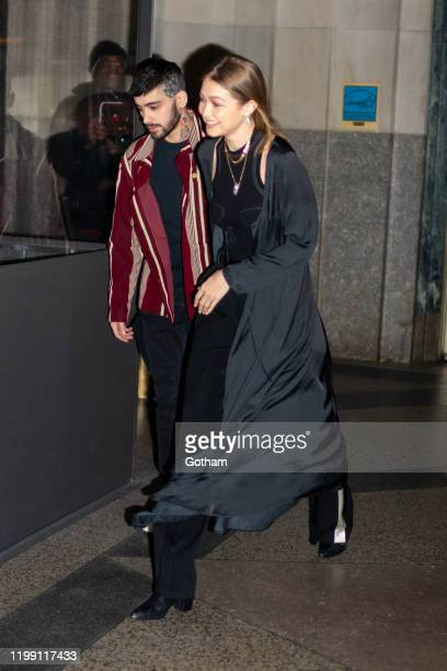 Zayn Malik and Gigi Hadid are seen outside Eleven Madison Park on January 12, 2020 in New York City.