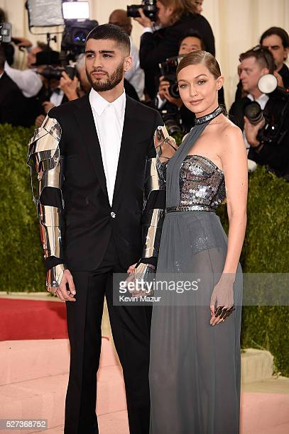 Zayn Malik and Gigi Hadid attend 'Manus x Machina Fashion In An Age Of Technology' Costume Institute Gala at Metropolitan Museum of Art on May 2 2016...