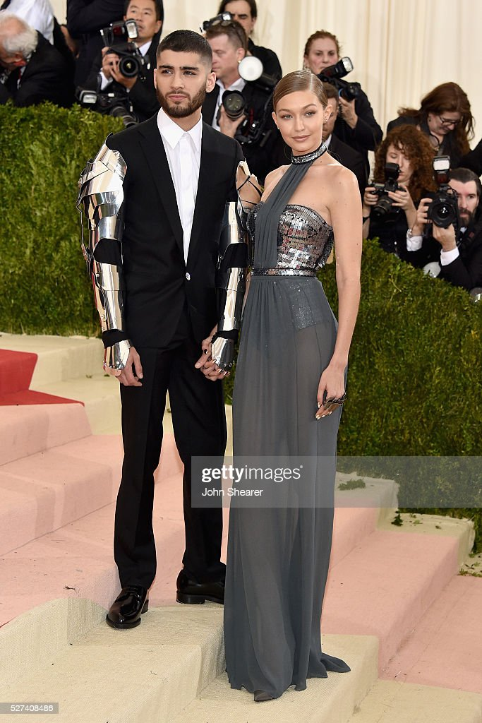 Zayn Malik (L) and Gigi Hadid attend the 'Manus x Machina: Fashion In An Age Of Technology' Costume Institute Gala at Metropolitan Museum of Art on May 2, 2016 in New York City.