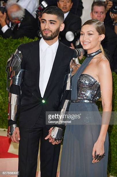 Zayn Malik and Gigi Hadid attend the 'Manus x Machina Fashion in an Age of Technology' Costume Institute Gala at the Metropolitan Museum of Art on...