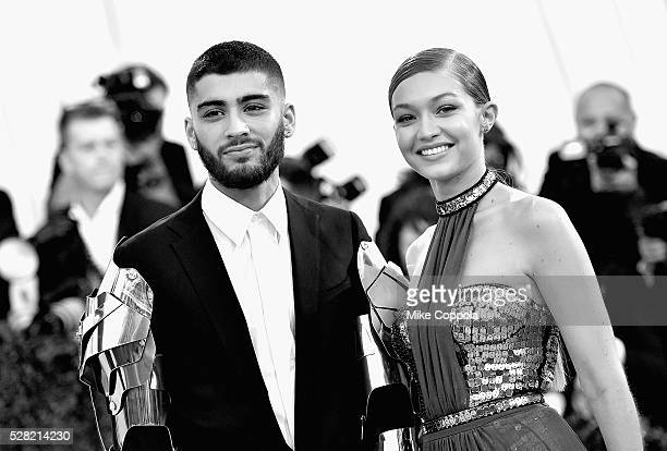 "Zayn Malik and Gigi Hadid attend the ""Manus x Machina: Fashion In An Age Of Technology"" Costume Institute Gala at Metropolitan Museum of Art on May..."