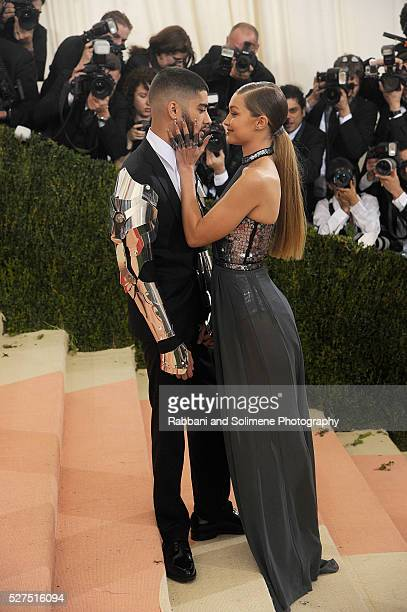 Zayn Malik and Gigi Hadid attends 'Manus x Machina Fashion In An Age Of Technology' Costume Institute Gala at