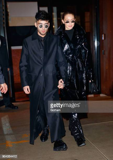 Zayn Malik and Gigi Hadid seen on January 12 2018 in New York City