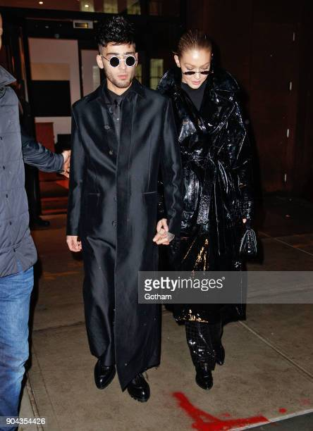 Zayn Malik and Gigi Hadid seen on January 12 2018 in New York City