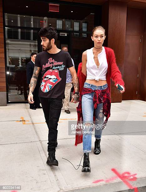 Zayn Malik and Gigi Hadid seen on the streets of Manhattan on September 10 2016 in New York City