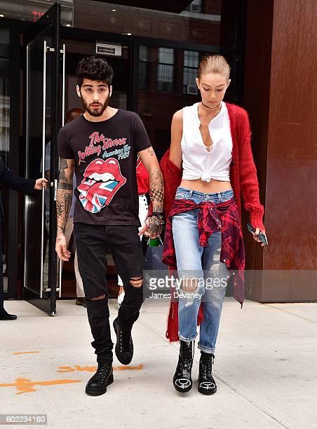 Zayn Malik and Gigi Hadid seen on the streets of Manhattan on September 10 2016 in New York City