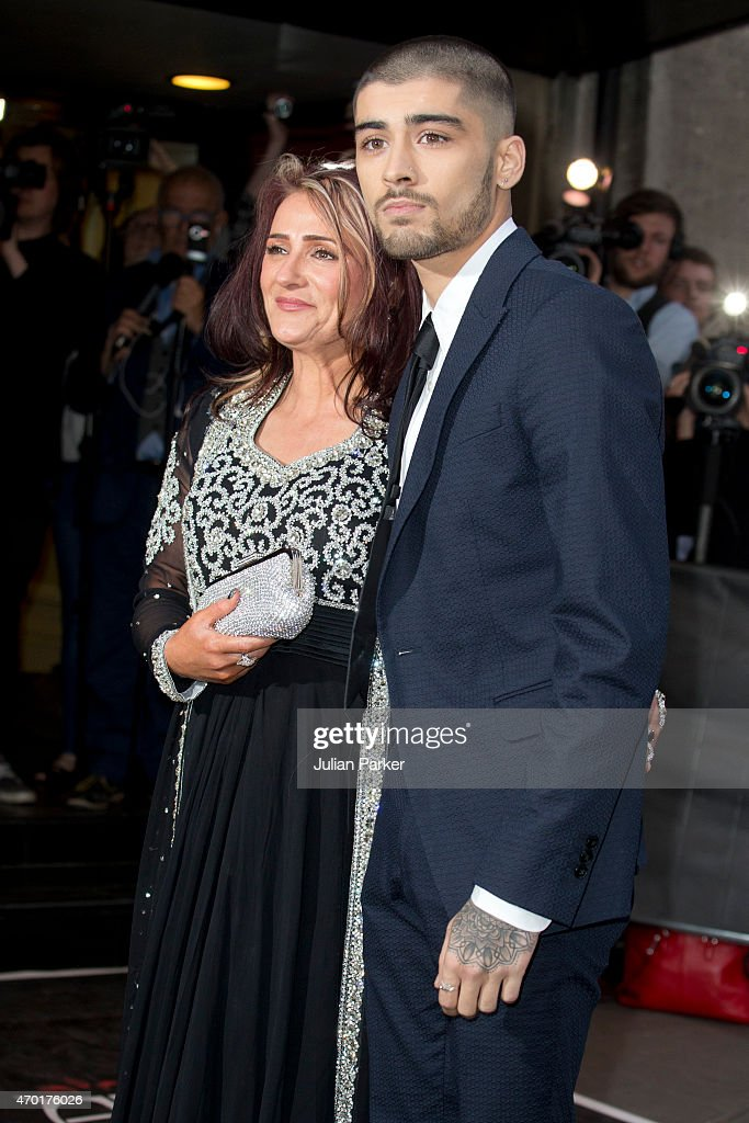 zayn malik and his mother trisha malik attends the asian