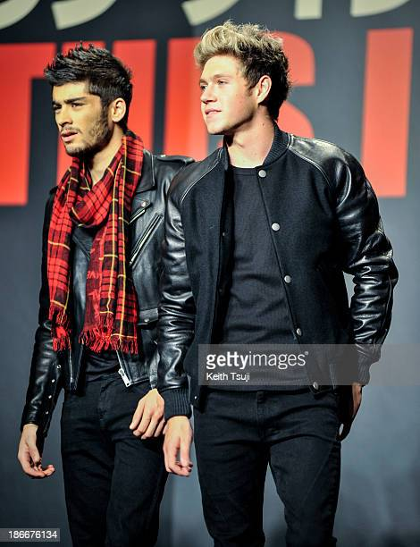 Zayn Malik and Niall Horan of One Direction meet Japanese fans to promote 'The 1Derland THIS IS US' on November 3 2013 in Chiba Japan