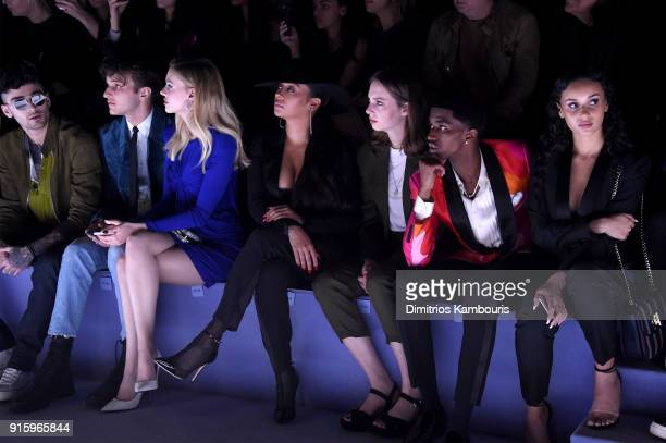 Zayn Malik Anwar Hadid Nicola Peltz La La Anthony Maya ThurmanHawke and Christian Combs attend the Tom Ford Fall/Winter 2018 Women's Runway Show at...