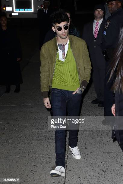 Zayn Malik arrives at the Tom Ford show during the New York Fashion Week on February 8 2018 in New York City