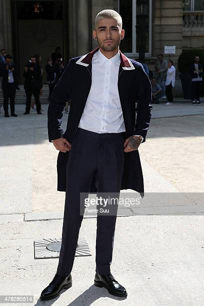 Zayn Malik attends the 22/4_Hommes Menswear Spring/Summer 2016 show as part of Paris Fashion Week>> on June 24 2015 in Paris France