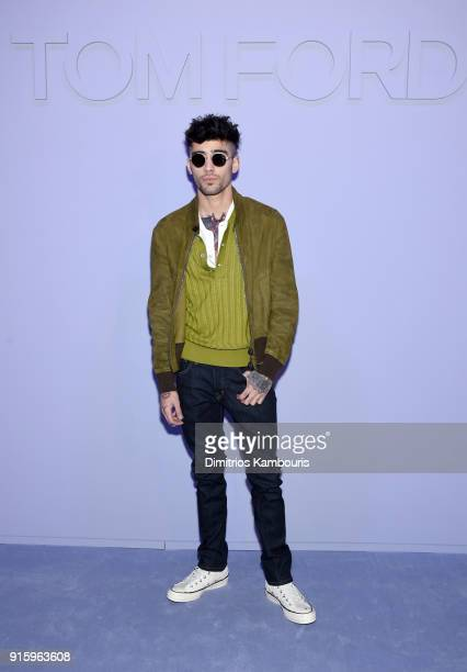 Zayn Malik attends the Tom Ford Fall/Winter 2018 Women's Runway Show at the Park Avenue Armory on February 8 2018 in New York City