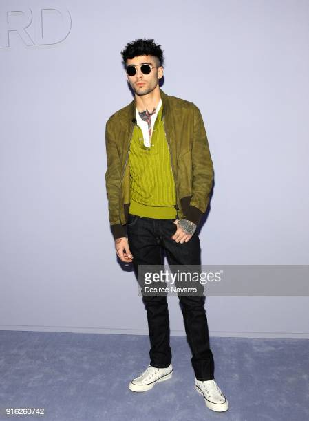 Zayn Malik attends Tom Ford Women's Fall/Winter 2018 fashion show during New York Fashion Week at Park Avenue Armory on February 8 2018 in New York...