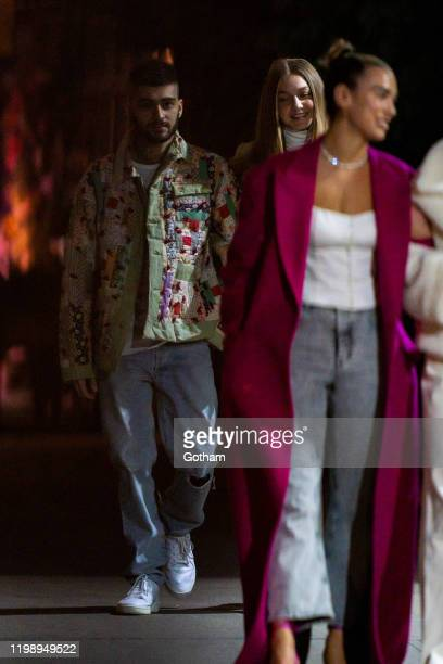 Zayn Malik Gigi Hadid and Dua Lipa are seen in NoHo on January 11 2020 in New York City