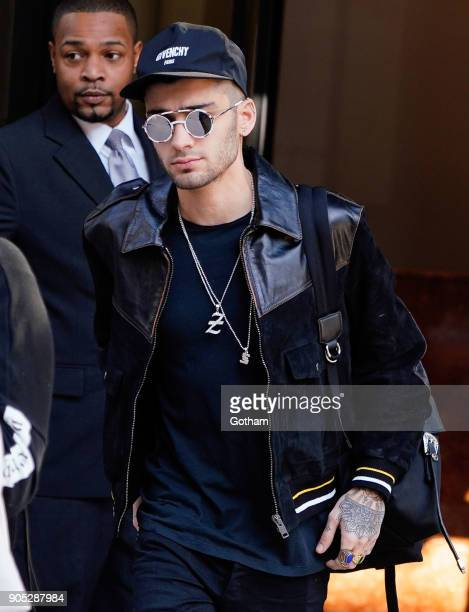Zayn Malik head out of his apartment on January 15 2018 in New York City