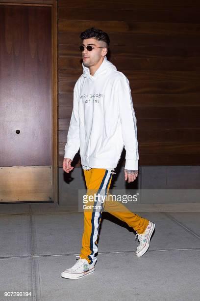 Zayn Malik is seen in NoHo on January 19 2018 in New York City