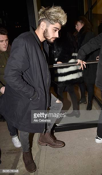 Zayn Malik is seen in the Lower East Side on January 5 2016 in New York City