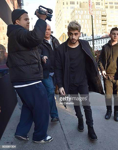 Zayn Malik is seen in the Meat Packing District on January 4 2016 in New York City