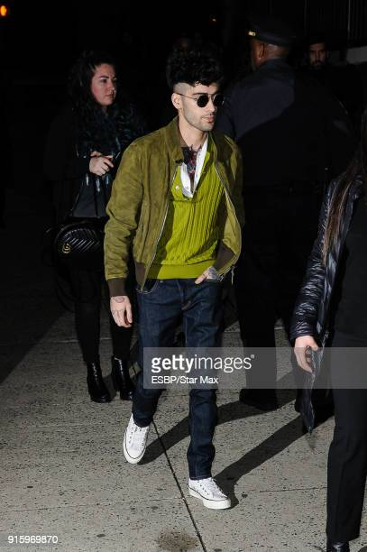 Zayn Malik is seen on February 8 2018 in New York City