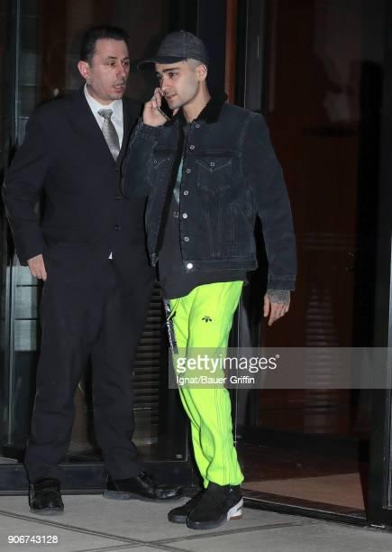 Zayn Malik is seen on January 18 2018 in New York City