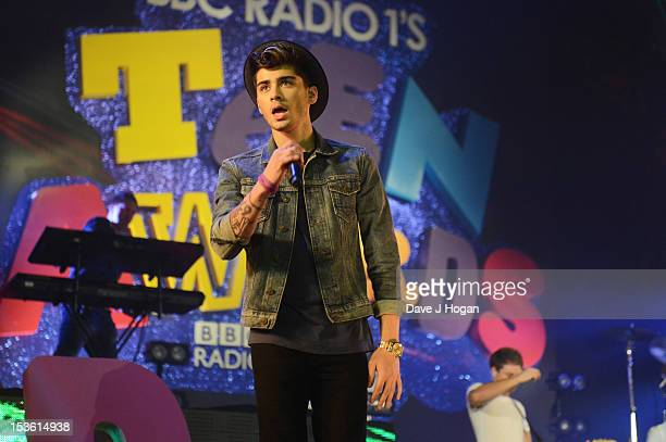 Zayn Malik of One Direction performs at the BBC Radio 1 Teen Awards 2012 at Wembley Arena on October 7 2012 in London England