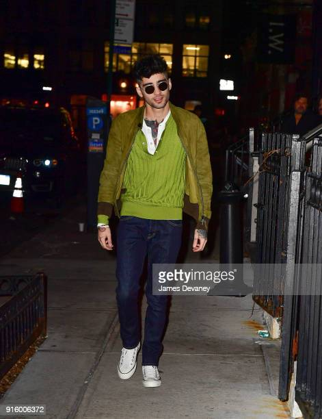 Zayn Malik seen on the streets of Manhattan on February 8 2018 in New York City