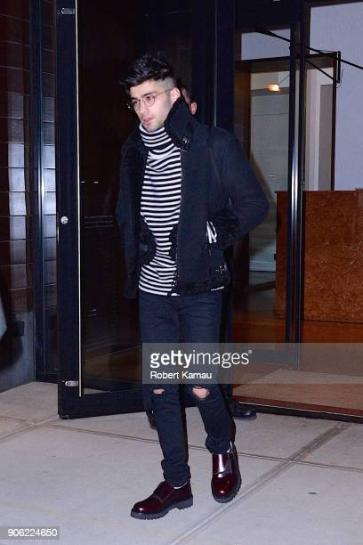 Zayn Malik seen out and about in Manhattan on January 16 2018 in New York City