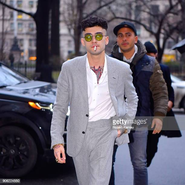 Zayn Malik seen out and about in Manhattan on January 17 2018 in New York City