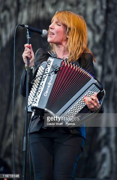 Zaza Fournier performs at Festival Fnac Live at Parvis De L'Hotel de Ville on July 23 2011 in Paris France