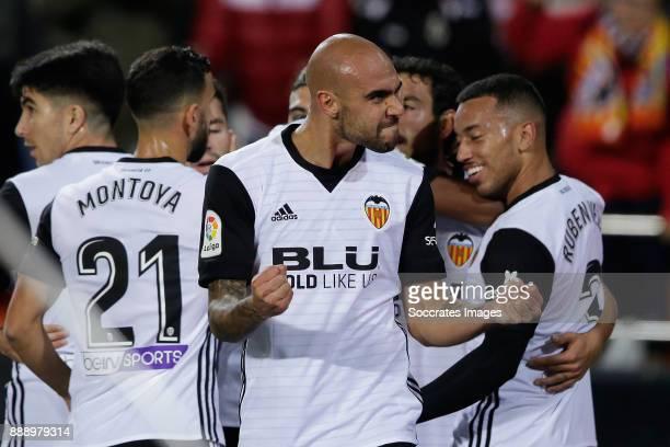 Zaza of Valencia CF celebrates 11 during the Spanish Primera Division match between Valencia v Celta de Vigo at the Estadio de Mestalla on December 9...