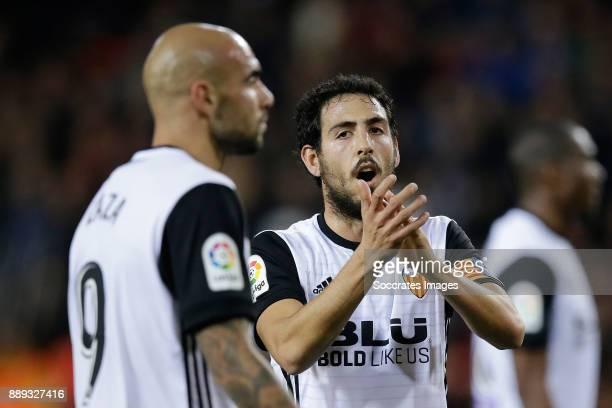 Zaza of Valencia CF Dani Parejo of Valencia CF during the Spanish Primera Division match between Valencia v Celta de Vigo at the Estadio de Mestalla...