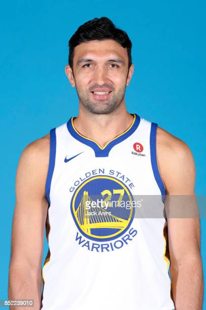 Zaza Pachulia of the Golden State Warriors poses for a head shot during media day on September 22 2017 at Oracle Arena in Oakland California NOTE TO...