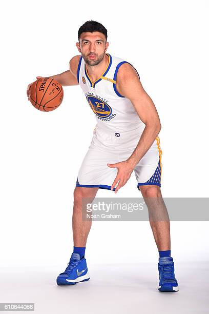 Zaza Pachulia of the Golden State Warriors poses for a portrait during NBA Media Day at Oracle Arena in Oakland California on September 26 2016 NOTE...