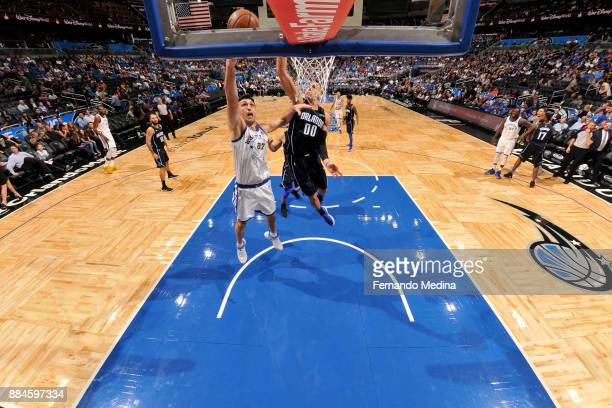 Zaza Pachulia of the Golden State Warriors shoots the ball against the Orlando Magic on December 1 2017 at Amway Center in Orlando Florida NOTE TO...