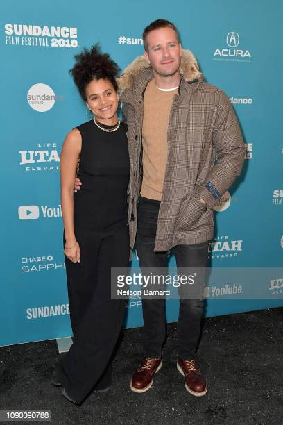 Zazie Beetz and Armie Hammer attend the Wounds Premiere during the 2019 Sundance Film Festival at Eccles Center Theatre on January 26 2019 in Park...