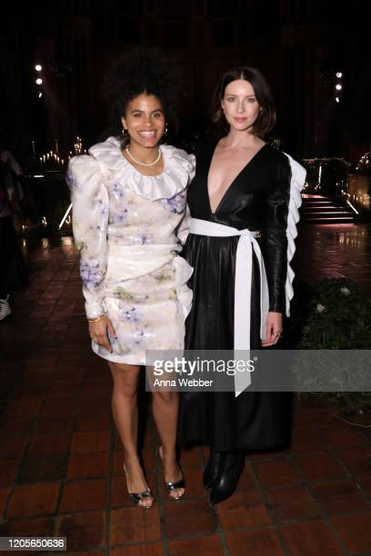 Zazie Beetz and Caitriona Balfe at the front row of Rodarte fashion show during New York Fashion Week at St. Bartholomew's Church on February 11,...