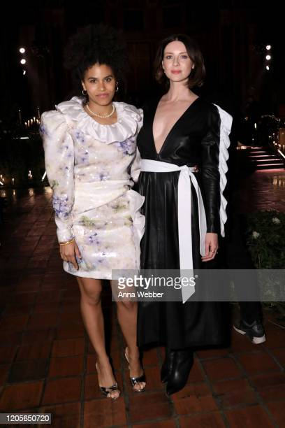 Zazie Beetz and Caitriona Balfe at the front row of Rodarte fashion show during New York Fashion Week at St Bartholomew's Church on February 11 2020...