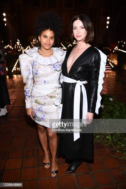 Zazie Beetz and Caitriona Balfe attend front row at the Rodarte fashion show during February 2020 - New York Fashion Week: The Shows on February 11,...