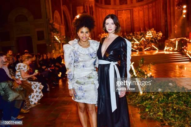 Zazie Beetz and Caitriona Balfe attend the Rodarte AW/20 Fashion Show on February 11 2020 in New York City