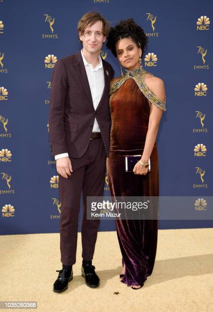 Zazie Beetz and David Rysdahl attend the 70th Emmy Awards at Microsoft Theater on September 17, 2018 in Los Angeles, California.