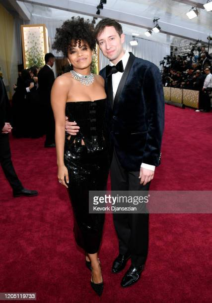 Zazie Beetz and David Rysdahl attend the 92nd Annual Academy Awards at Hollywood and Highland on February 09 2020 in Hollywood California