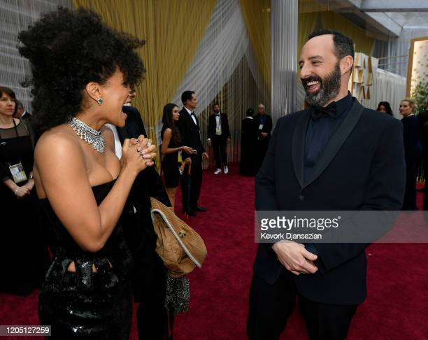 Zazie Beetz and Tony Hale attends the 92nd Annual Academy Awards at Hollywood and Highland on February 09 2020 in Hollywood California