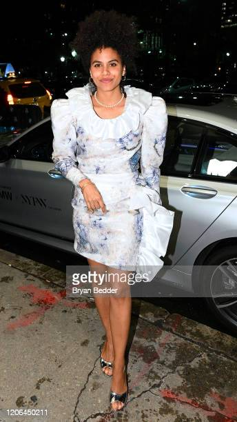Zazie Beetz arrives to NYFW: The Shows in a BMW 750i xDrive Sedan in New York City on February 06, 2020. For the second consecutive year, BMW is the...