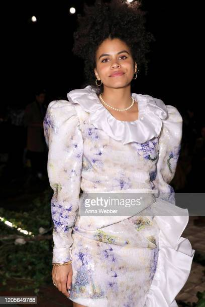 Zazie Beetz at the front row of Rodarte fashion show during New York Fashion Week at St Bartholomew's Church on February 11 2020 in New York City