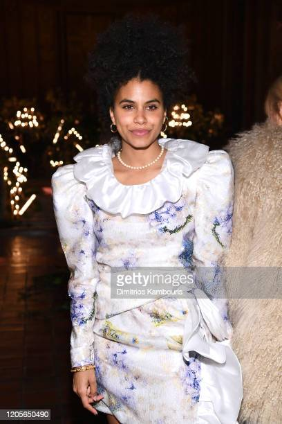 Zazie Beetz attends front row at the Rodarte fashion show during February 2020 New York Fashion Week The Shows on February 11 2020 in New York City