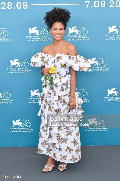 """Zazie Beetz attends """"Seberg"""" photocall during the 76th Venice Film Festival at Sala Grande on August 30, 2019 in Venice, Italy."""
