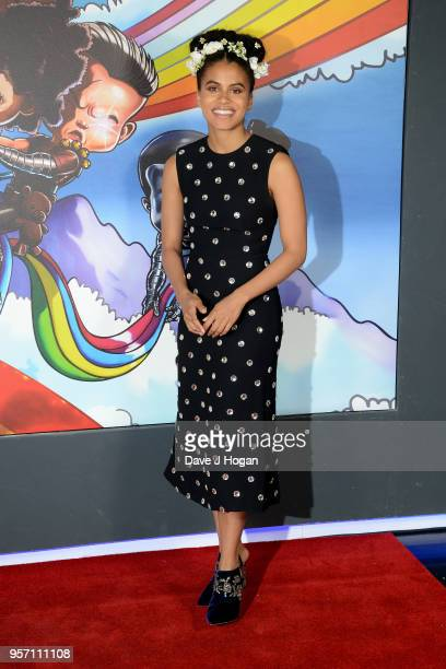 Zazie Beetz attends the 'Deadpool 2' fan screening at Cineworld Leicester Square on May 10, 2018 in London, England.